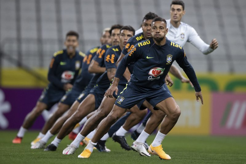 Seleção encerrou a preparação para a partida desta sexta-feira – Foto: Lucas Figueiredo/CBF/ND