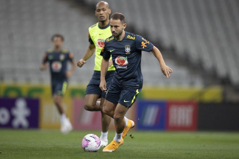 Caso Neymar não jogue, Éverton Ribeiro será o substituto – Foto: Lucas Figueiredo/CBF/ND