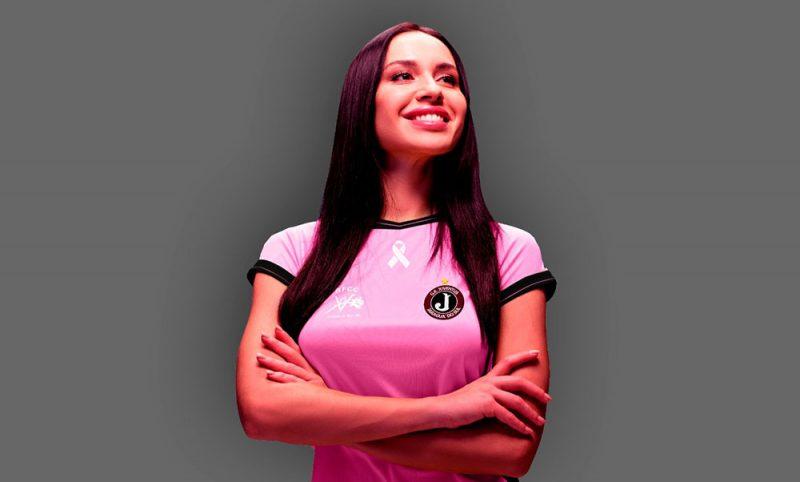 O Juventus, equipe de Jaraguá do Sul, pretende passar parte da verba das camisas para beneficiar a Rede Feminiina de Combate ao Câncer do município – Foto: Divulgação/Juventus/ND