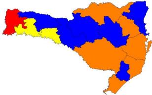 Mapa de risco de acordo com o item evento sentinela – Foto: Divulgação