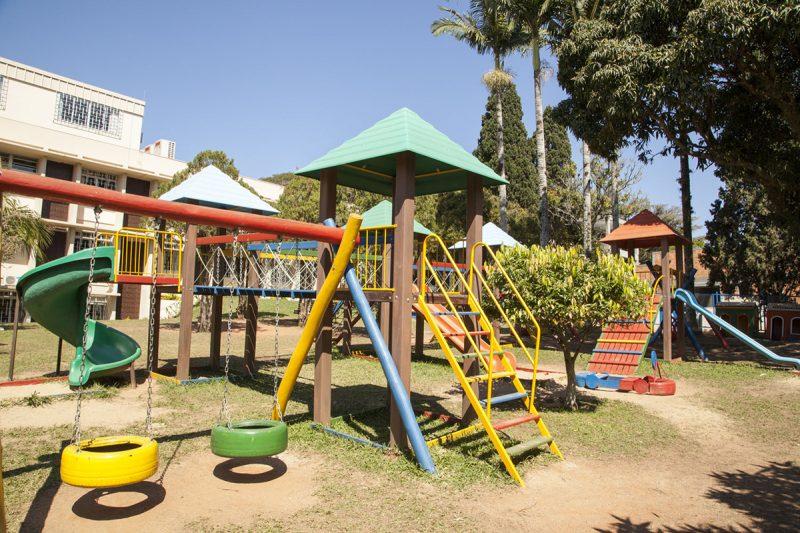 Parquinho do CC é um dos locais preferidos das crianças – Foto: Acervo/Colégio Catarinense
