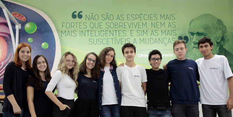 Alunos nas Olimpíadas de Biologia, em 2019 – Acervo Colégio Catarinense