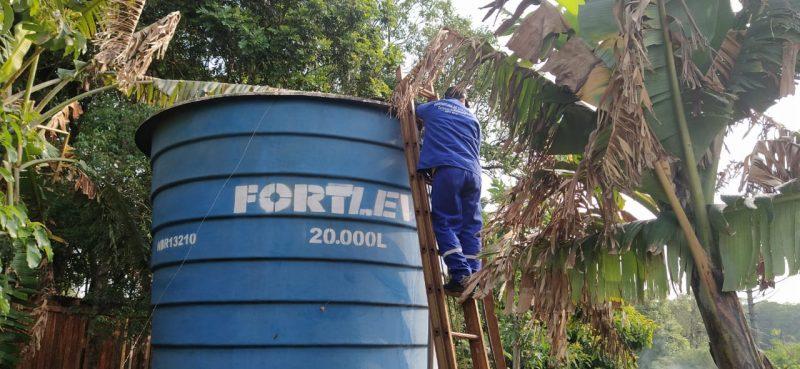 Prefeitura disponibiliza água para consumo humano, animal e também para irrigar as plantações – Foto: Felipe Kreusch/NDTV
