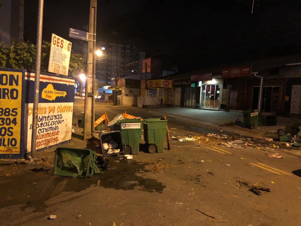 Após o ocorrido, barreiras foram realizadas na entrada da comunidade - Divulgação/PMSC/ND