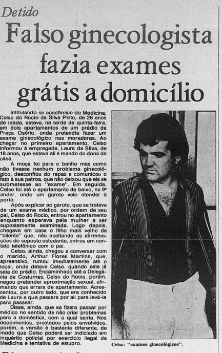 Diário do Paraná noticiou crime cometido em 1976, em Curitiba – Foto: Reprodução