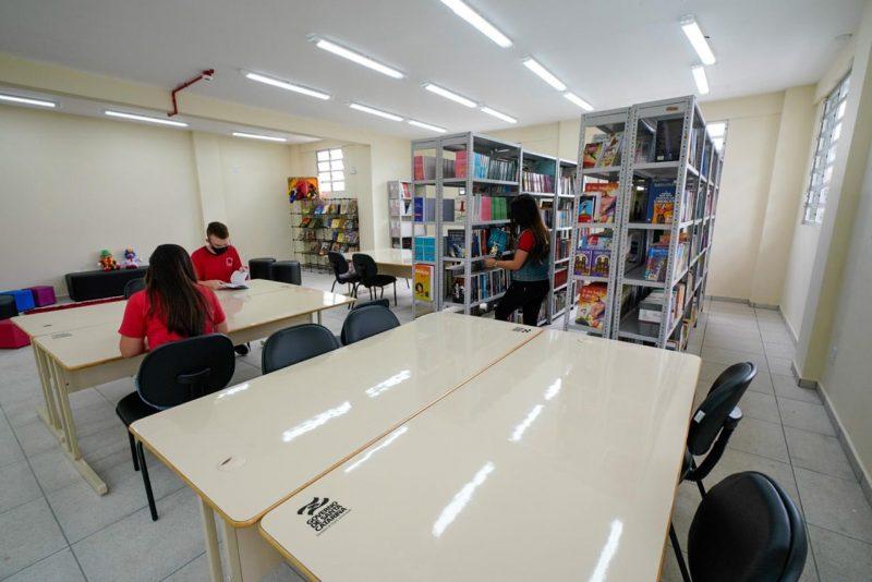 As bibliotecas poderão funcionar com ocupação integral quando o Risco Potencial à COVID-19 estiver alto ou moderado – Foto: Ricardo Wolffenbüttel/Secom/Divulgação/ND