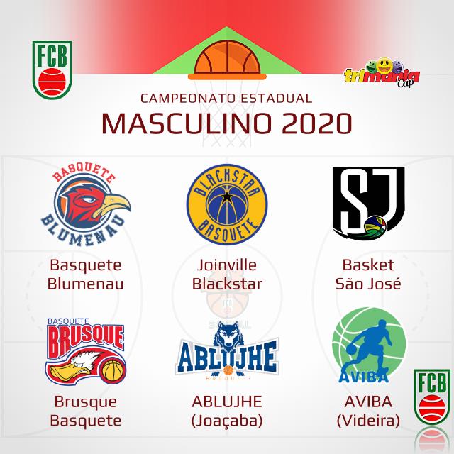 Equipes que irão disputar o campeonato catarinense de basquete masculino - basquete masculono