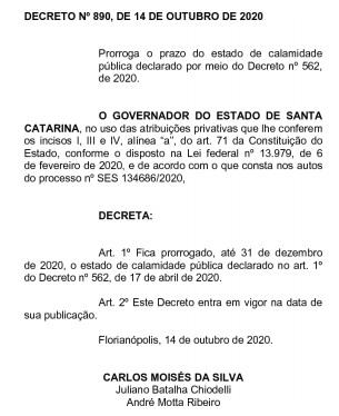 Governo do Estado decidiu prorrogar prazo de vigência do decreto nº 562 de 2020 – Foto: Reprodução/ND