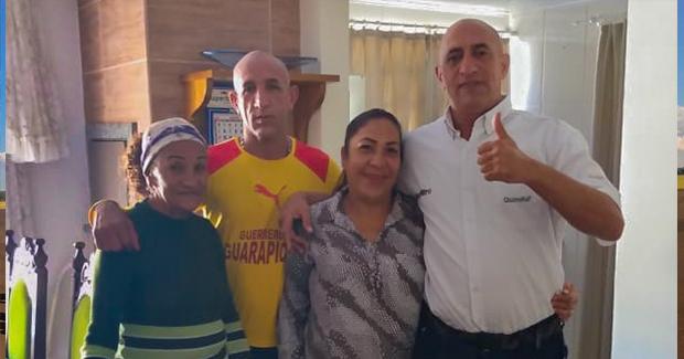 Interiorizados em fevereiro: a família Rojas alugou uma casa e continua morando em Seara – Foto: Divulgação
