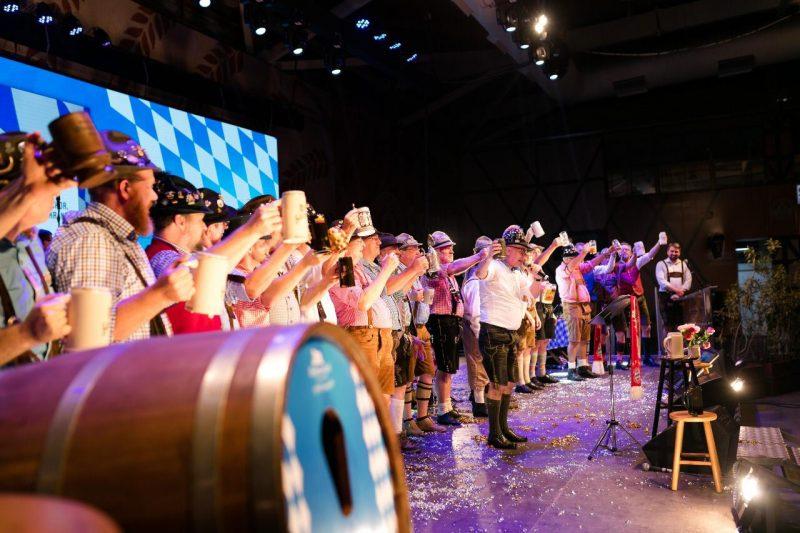 Cerimônia on-line da Oktoberfest de 2020 – Foto: Daniel Zimmermann/Divulgação/ND