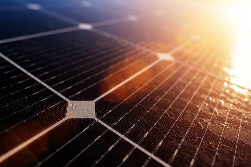 Imagem de uma célula solar em um painel fotovoltaico – Foto: Divulgação
