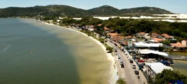 Avenida das Rendeiras, na Lagoa da Conceição – Foto: Reprodução/NDTV