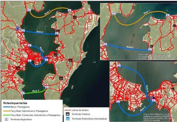 Governo faz estudos para definir as rotas mais viáveis para implantação do transporte marítimo