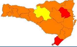 Mapa de risco de acordo com o item transmissibilidade – Foto: Divulgação/SES/ND