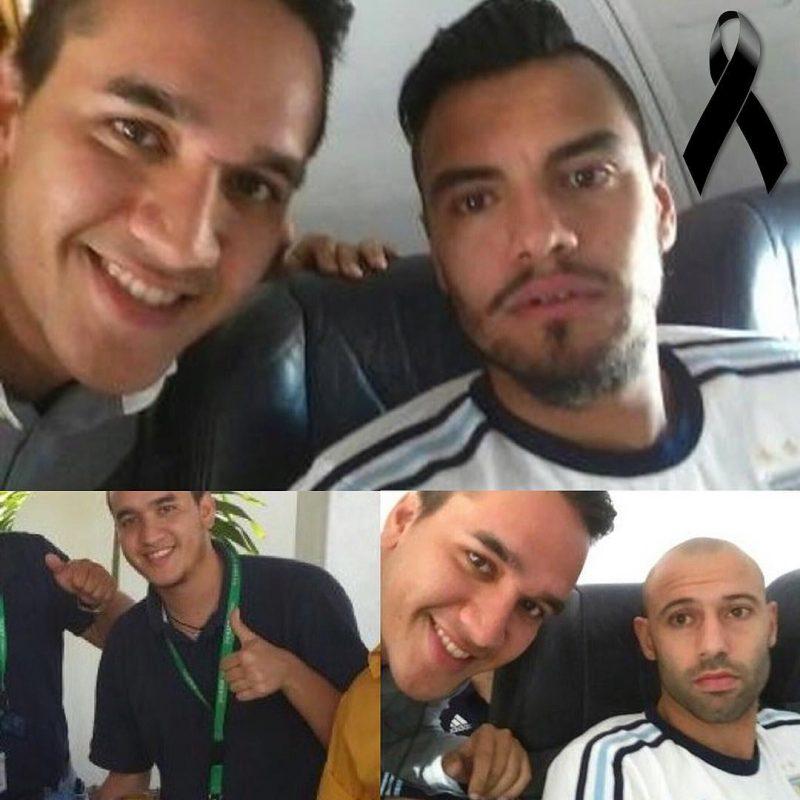 Ángel Lugo Ugaz (a esquerda nas fotos): era técnico da aeronave do avião da LaMia. – Foto: Arquivo Pessoal