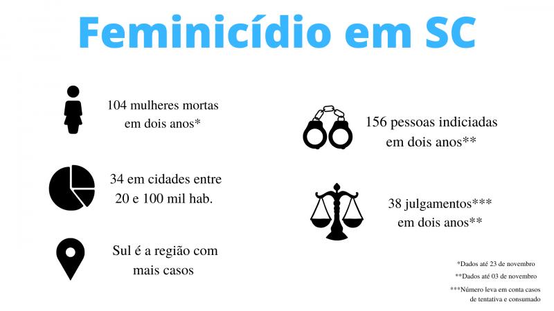 Números mostram um retrato do feminicídio em Santa Catarina – Foto: Luana Amorim/Divulgação
