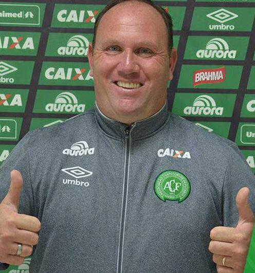 Adriano Wulff Bitencourt: tinha 45 anos e era chefe de segurança do clube. – Foto: Reprodução/Chapecoense