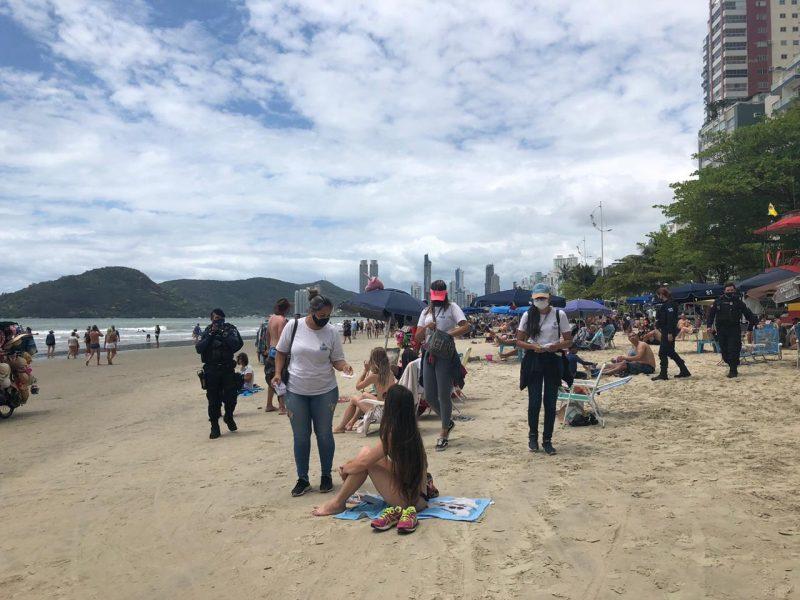 Praias ficaram cheias durante o feriado em Balneário Camboriú – Foto: Prefeitura de Balneário Camboriú/Divulgação