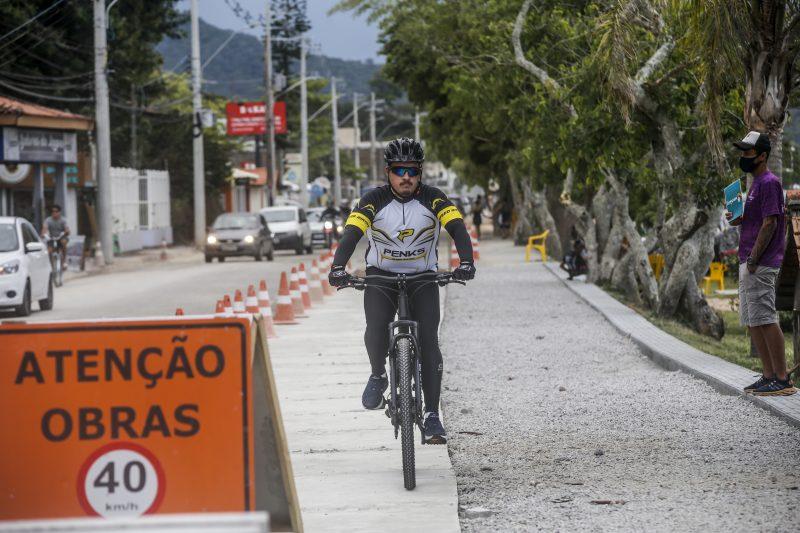 Avenida das Rendeiras vai ofertar mais uma ciclovia na cidade. Foto: Anderson Coelho/ND
