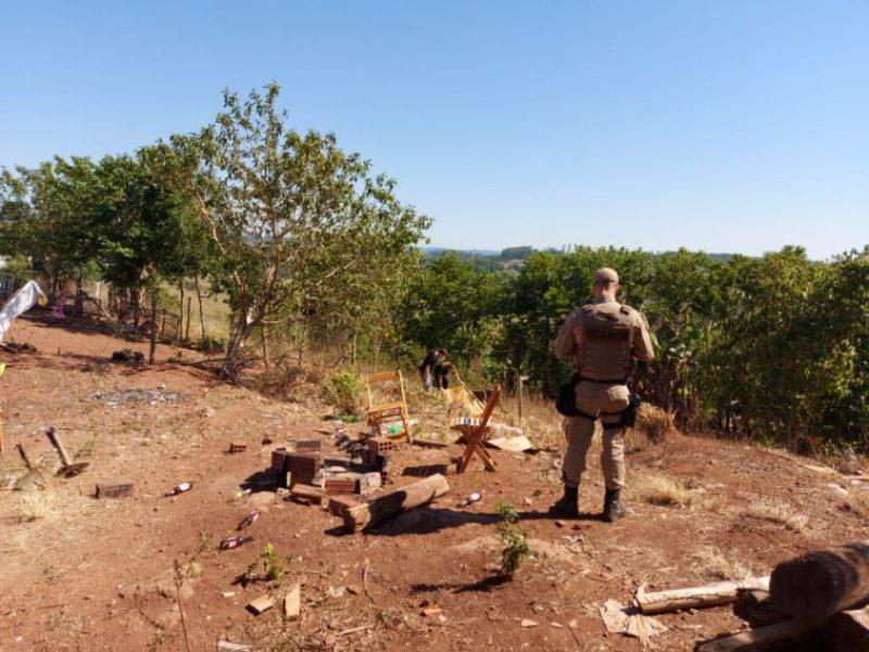 Homem foi morto com pelo menos sete tiros – Foto: PMSC/Divulgação
