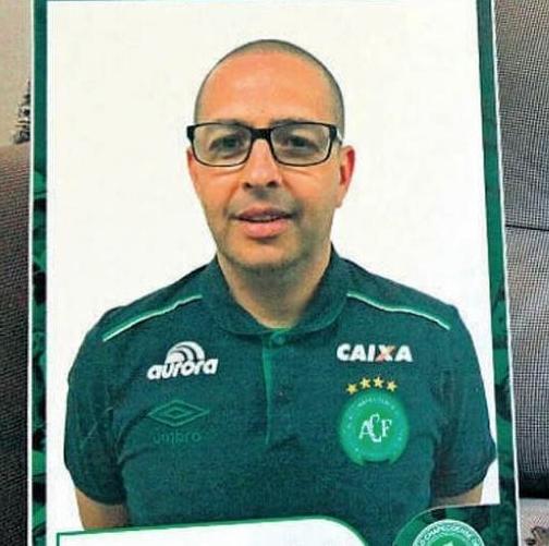 Cezinha: Luiz Cezar Martins Cunha tinha 47 anos. Era fisiologista e preparador físico da Chapecoense – Foto: Reprodução/Chapecoense