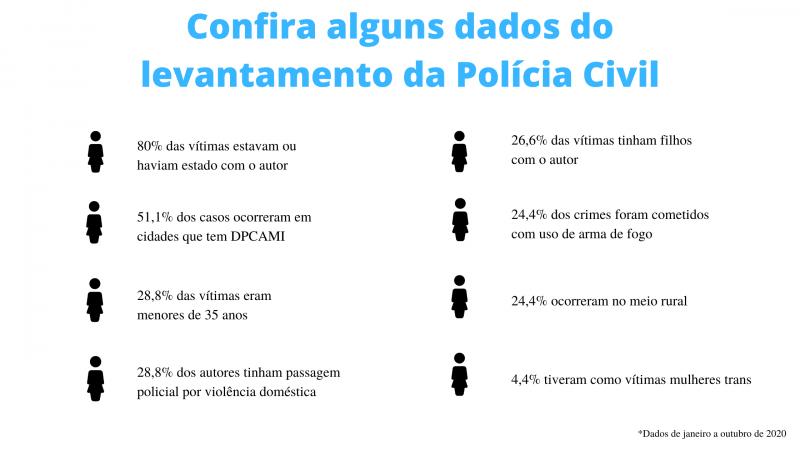Levantamento da Polícia Civil mapeou os casos de feminicídio que ocorreram em Santa Catarina nesse ano – Foto: ND