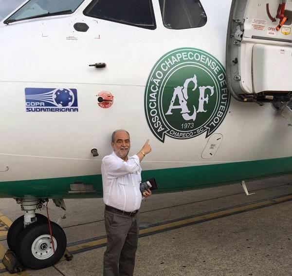 Delfim Peixoto: Delfim Peixoto Filho tinha 72 anos e era presidente da Federação Catarinense de Futebol desde 1986. Natural de Itajaí, também era vice-presidente da CBF. Viajava como convidado do clube. – Foto: Arquivo Pessoal
