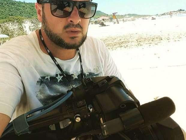Djalma Araújo Neto: o repórter cinematográfico de 35 anos trabalhava na RBS TV, em Florianópolis há 13 anos. – Foto: Arquivo Pessoal