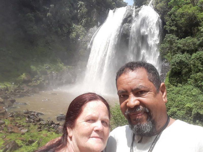 Djalma Dias Rodrigues e a esposa, Aladir de Fátima Augustin, em um passeio em dezembro de 2019 – Foto: Arquivo Pessoal