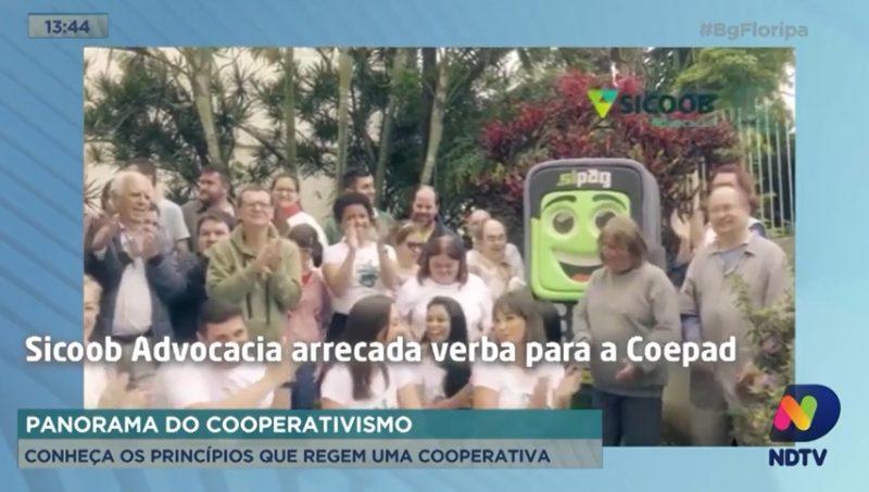 Intercoperação – Sicoob Advocacia em ação de apoio à Coepad – Foto/Reprodução: NDTV