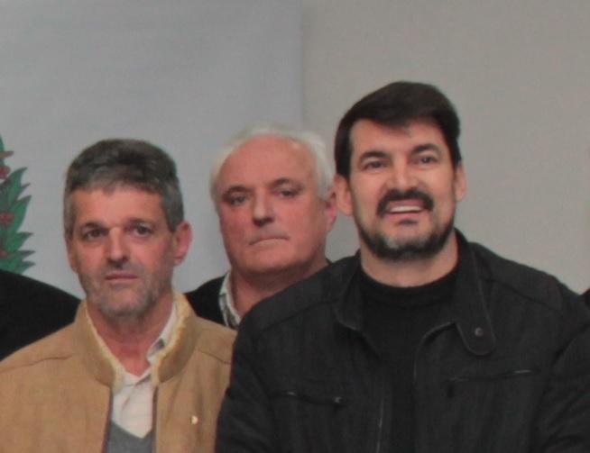 Mauro Dall Bello (no meio): tinha 55 anos e era 3º vice-presidente do Conselho Deliberativo da Chapecoense – Foto: Arquivo Pessoal