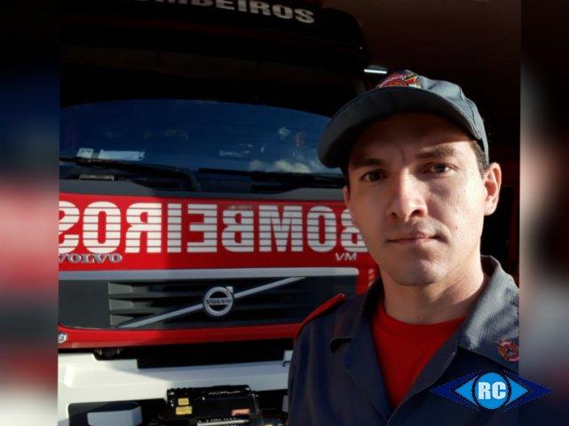 O bombeiro militar Sérgio Girioli salvou a criança. – Foto: Rádio Capinzal/Divulgação