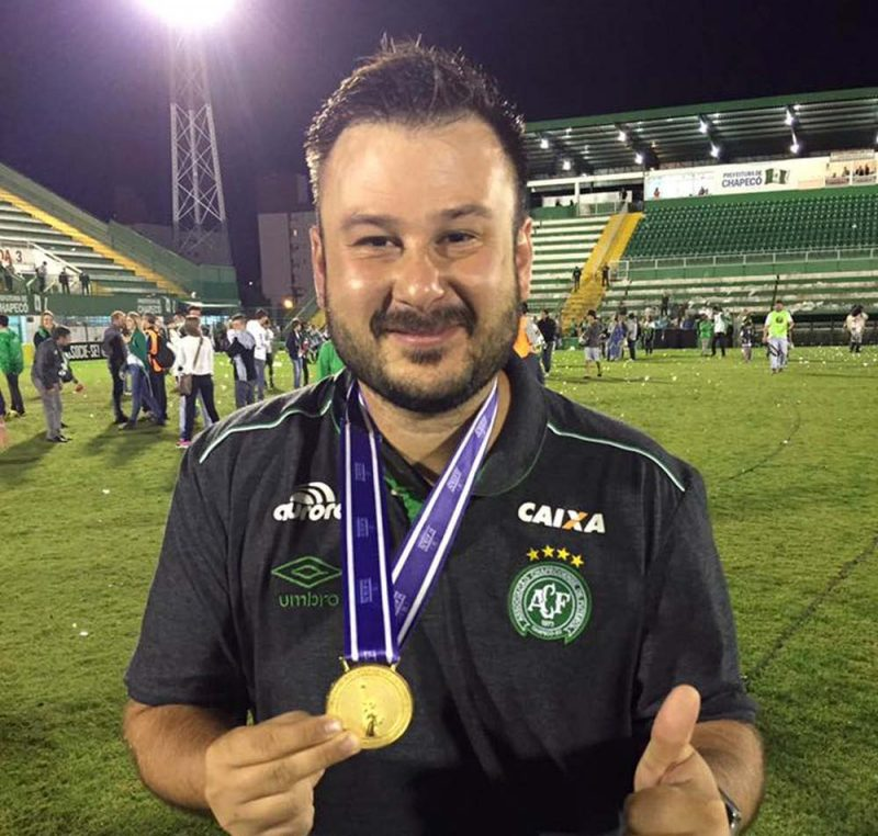 Rafael Gobbato: aos 33 anos era fisioterapeuta do clube – Foto: Arquivo Pessoal