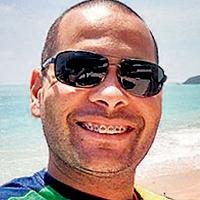 Rodrigo Santana Gonçalves: tinha 35 anos e era repórter cinematográfico da Fox Sports. Estava na emissora desde 2013. – Foto: Arquivo Pessoal