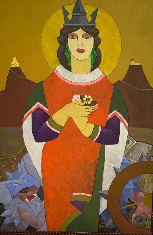 Santa Catarina de Alexandria na obra do grande artista – Foto: Moacir Pereira