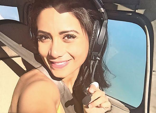 Sisy Arias: a boliviana tinha 29 anos e era copiloto no voo da LaMia. Filha de Jorge Arias, jornalista, apresentador e dono da emissora Gigavision, da Bolívia, abandonou sua carreira na televisão para se tornar piloto. – Foto: Arquivo Pessoal