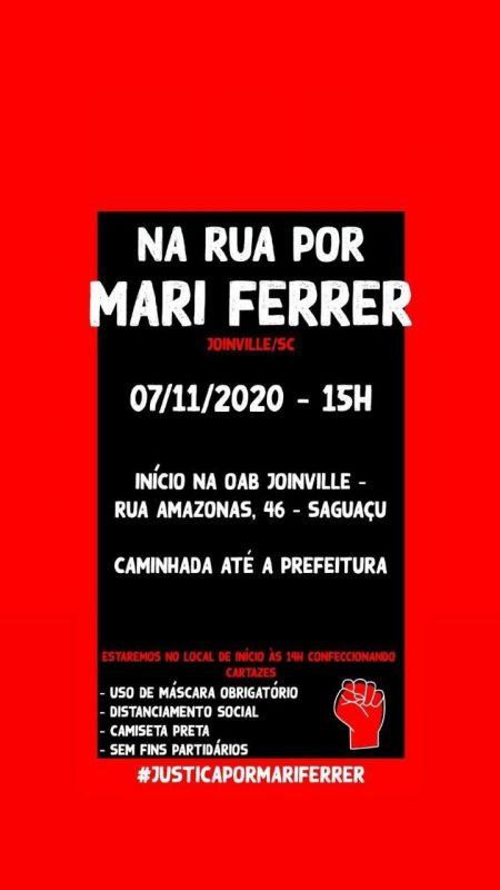 Manifestação ocorrerá neste sábado em Joinville – Foto: Divulgação