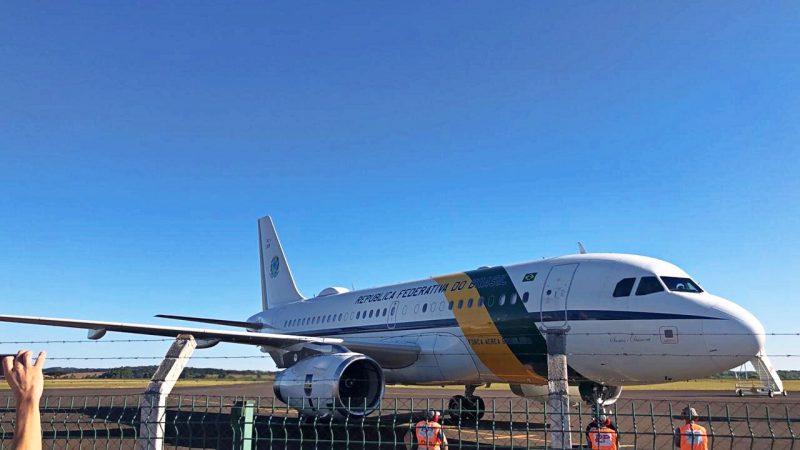 Aeronave chegou em Chapecó na quarta-feira – Foto: Willian Ricardo/ND