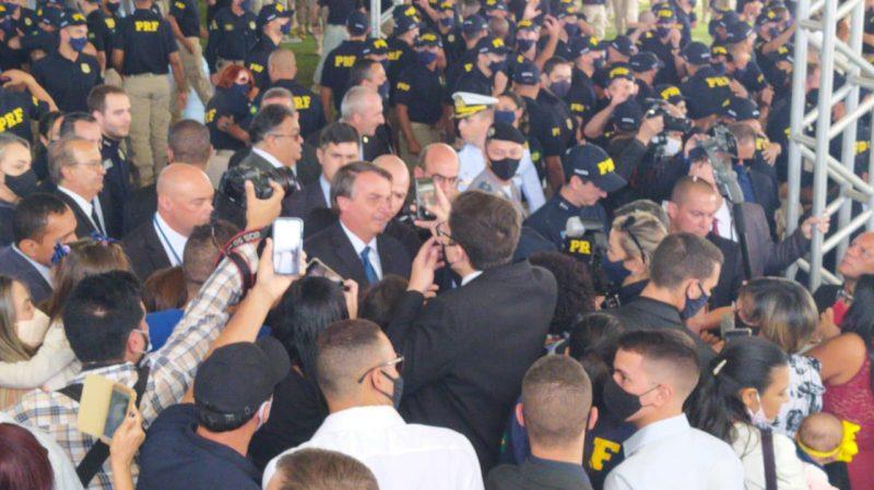Fim da solenidade de formatura de 650 policiais da PRF. Entre eles, Jordy Lustosa, piauiense – Foto: Paulo Rolemberg/ND