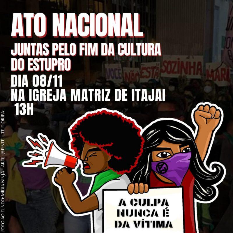Manifestação de Itajaí acontece no domingo (8) e deve reunir cerca de 200 pessoas. – Foto: Divulgação