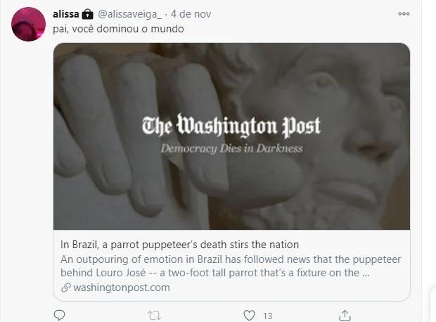 A notícia da morte do ator gerou repercussão nacional – Foto: Twitter/Reprodução
