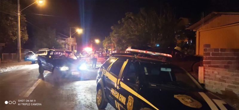Reunião com cerca de 20 pessoas é flagrado pela polícia em Águas de Chapecó – Foto: PM