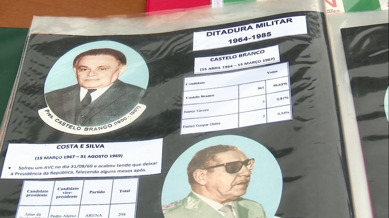 Personagens da Ditadura Militar também aparecem - Reprodução / NDTV Blumenau