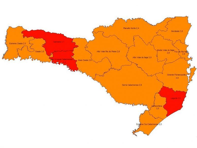 Novo mapa de risco foi divulgado nesta quarta-feira – Foto: Coes/Divulgação/ND