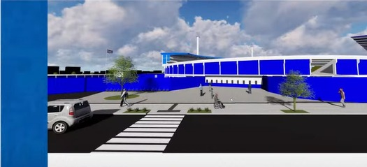 Espaço em frente da bilheteria ganhará uma nova calçada - Reprodução/YouTube/ND