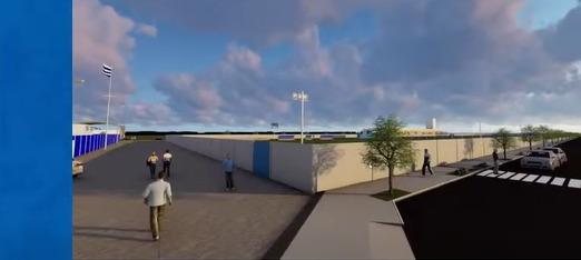 Obra também conta com uma calçada entre o estádio da Ressacada e o CT - Reprodução/YouTube/ND