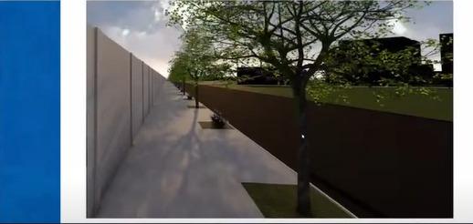 Laterais serão calçadas e contará com árvores - Reprodução/YouTube/ND