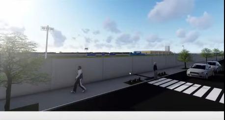 Rua Saul de Oliveira terá muro linear de 400 metros e Rua João Sallum com muro de 340 metros - Reprodução/YouTube/ND