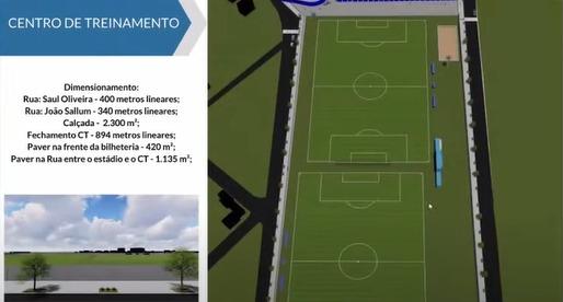 Espaço interno conta com dois campos para treinamento - Reprodução/YouTube/ND