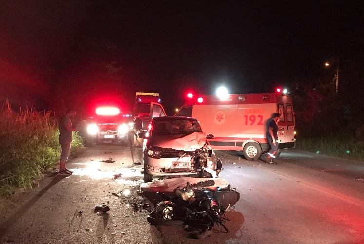 Motociclista morre em acidente na BR-470 em Blumenau – Foto: Divulgação/PRF